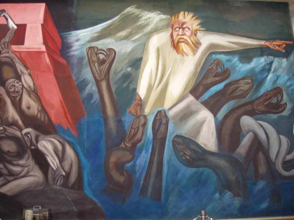 La Partida de Quetzalcóatl, José Clemente Orozco Biblioteca de Dartmouth, 1932-34